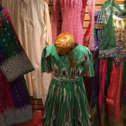 costumes on display - Hazara, Vietnamese and Uyighur